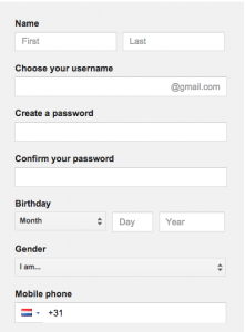 steps to create an gmail account